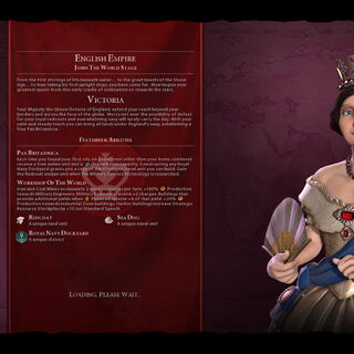 Victoria on the loading screen