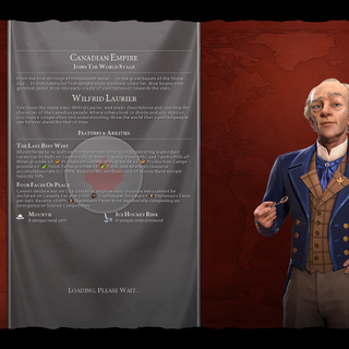 Wilfrid Laurier on the loading screen