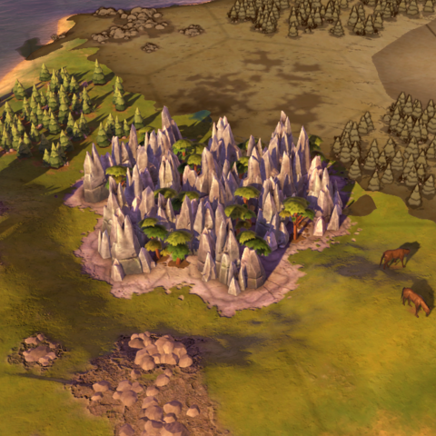 The Pinnacles, as seen in-game