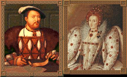 Henry VIII and Elizabeth I (Civ2)