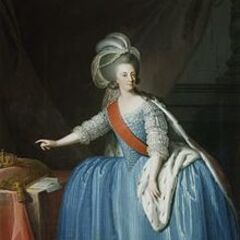 Portrait of the Queen Dona Maria I with a Crown, by Giuseppe Troni (1783)