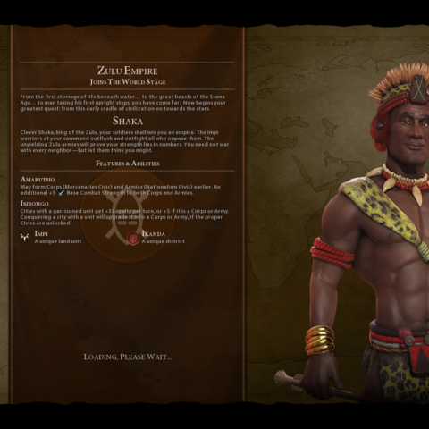 Shaka on the loading screen (in <i>Gathering Storm</i>)