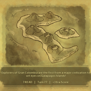 A civilization discovers the Galápagos Islands