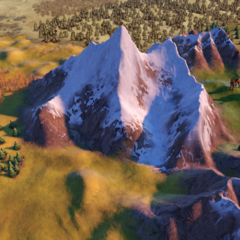 Mount Everest, as seen in-game