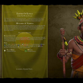 Mvemba a Nzinga on the loading screen