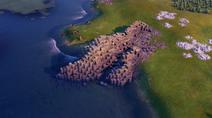 Natural Wonder Giant's Causeway closeup (Civ6)
