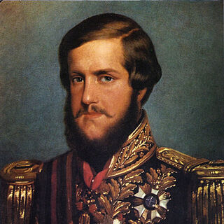 An 1850 portrait of Pedro II by François-René Moreaux (which appears to have inspired his in-game model)