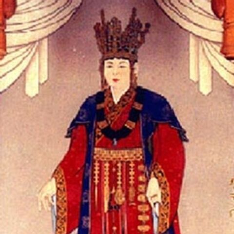 A painting of Seondeok (which appears to have inspired her in-game model)