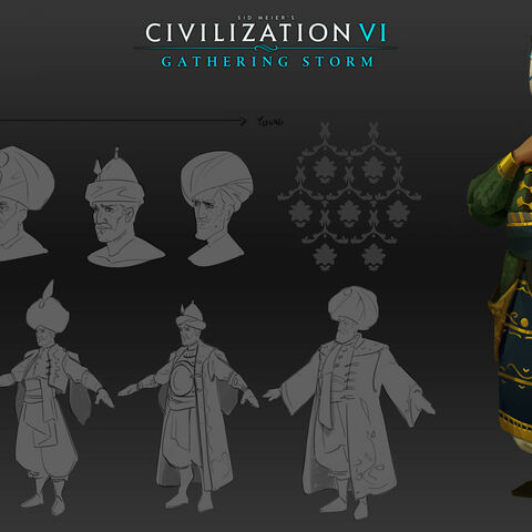 Concept art of Suleiman