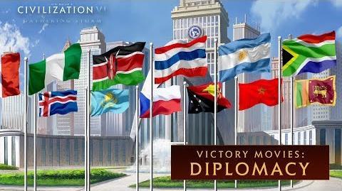 Civilization VI- Gathering Storm - Diplomacy Win (Victory Movies)