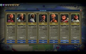 Governors as seen in the New Features Explained video (Civ6)