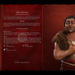 Kupe on the loading screen