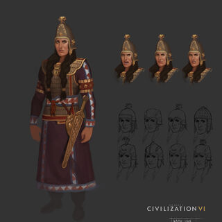 Concept art of Tomyris by Sang Han