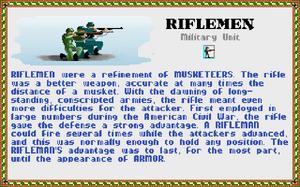 Civilopedia - Riflemen 1 (Civ1)