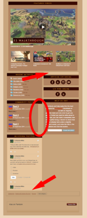 Main page draft minor layout issues