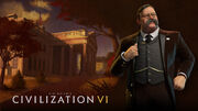 Steam trading card large Theodore Roosevelt (Civ6)