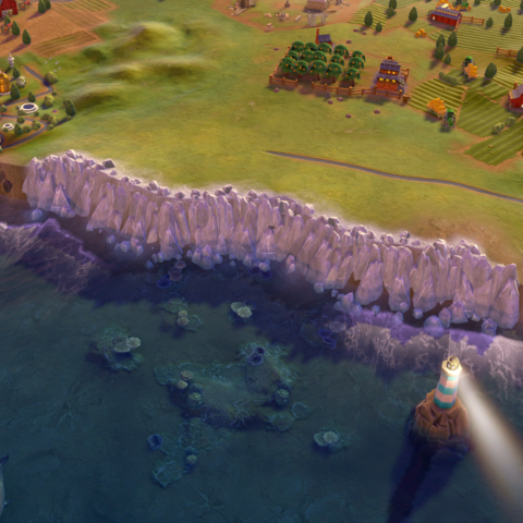 The Cliffs of Dover, as seen in-game