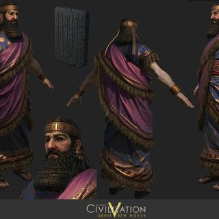 Render of Ashurbanipal