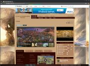 CivWiki mainpage background aligns nicely to top left corner