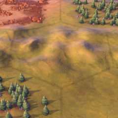Hills on a Plains tile, as seen in-game