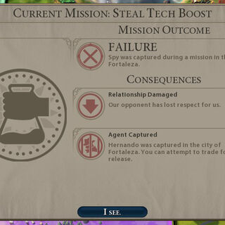 A Spy failed to steal a Tech Boost and was captured