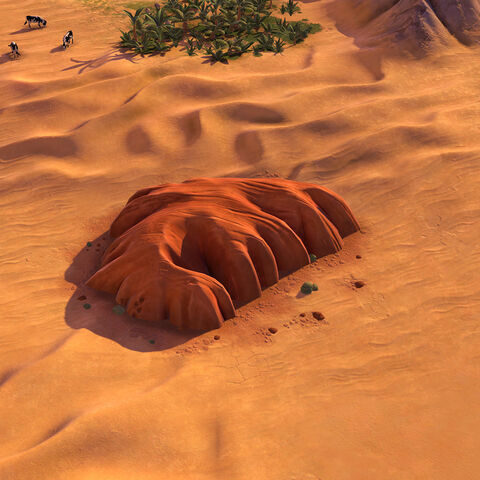 Uluru, as seen in-game