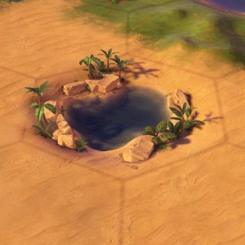 An Oasis tile, as seen in-game