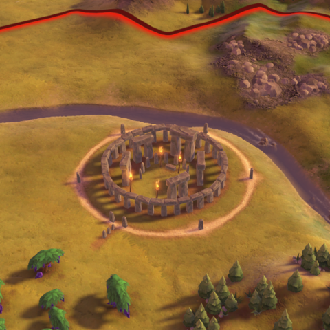 Stonehenge, as seen in-game