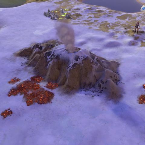 Eyjafjallajökull, as seen in-game