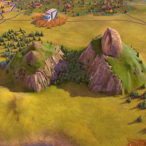 Yosemite, as seen in-game
