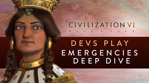 Civilization VI Rise and Fall - Devs Play Georgia (Emergencies Deep Dive)