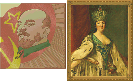Lenin and Catherine the Great (Civ2)
