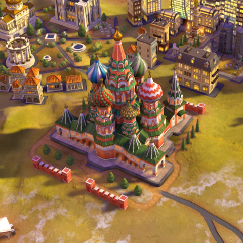 St. Basil's Cathedral, as seen in-game