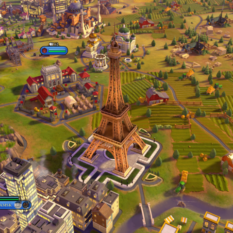 The Eiffel Tower, as seen in-game