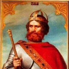 A portrait of Frederick Barbarossa (which appears to have inspired his in-game model)