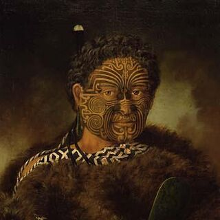 A portrait of Kupe from the Auckland Art Gallery (which appears to have inspired his in-game model)