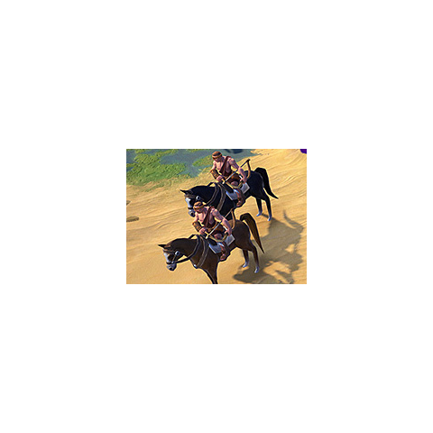Barbarian Horse Archer in game