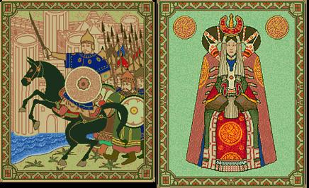 Genghis Khan and Borte (Civ2)