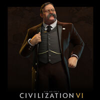 Civilization VI Amerika Roosevelt Portrait