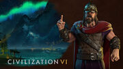 Steam trading card large Harald Hardrada (Civ6)