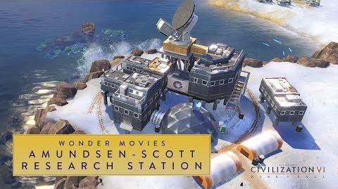 Civilization VI Rise and Fall - Amundsen-Scott Research Station (Wonder Movies)