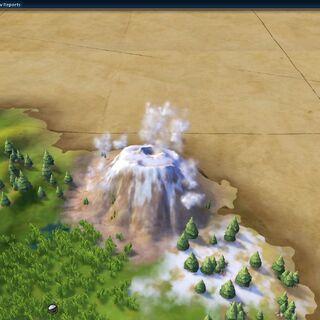 Mount Kilimanjaro, as seen in-game