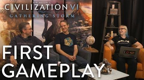 Civilization VI- Gathering Storm - FIRST GAMEPLAY (MESSAGE FROM SID MEIER)