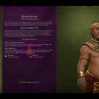 Jayavarman VII on the loading screen (in <i>Gathering Storm</i>)
