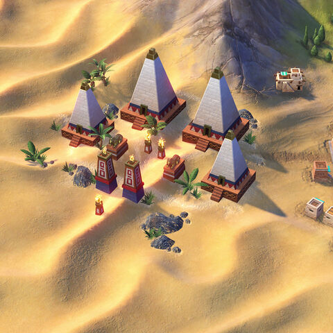 Nubian Pyramid in game