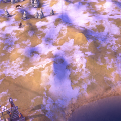 Hills on a Tundra tile, as seen in-game