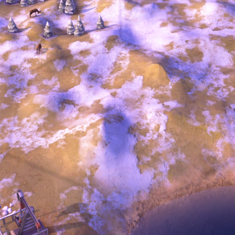 A Tundra Hill tile, as seen in-game