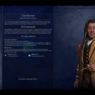 Poundmaker on the loading screen (in <i>Gathering Storm</i>)