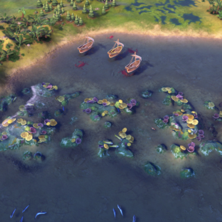 The Great Barrier Reef, as seen in-game