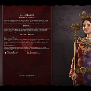 Jadwiga on the loading screen